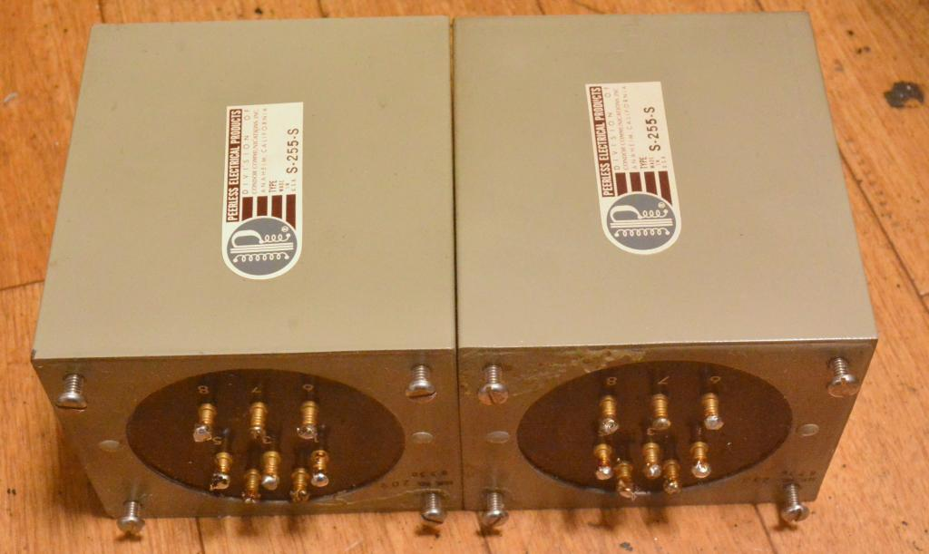 Used pair Peerless S-255-S output transformer for 300B, PX-25, PX4 ...