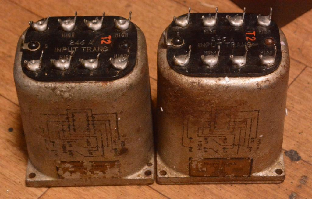 30s YEAR Western Electric interstage transformer 246-A from WE 49 tube amp
