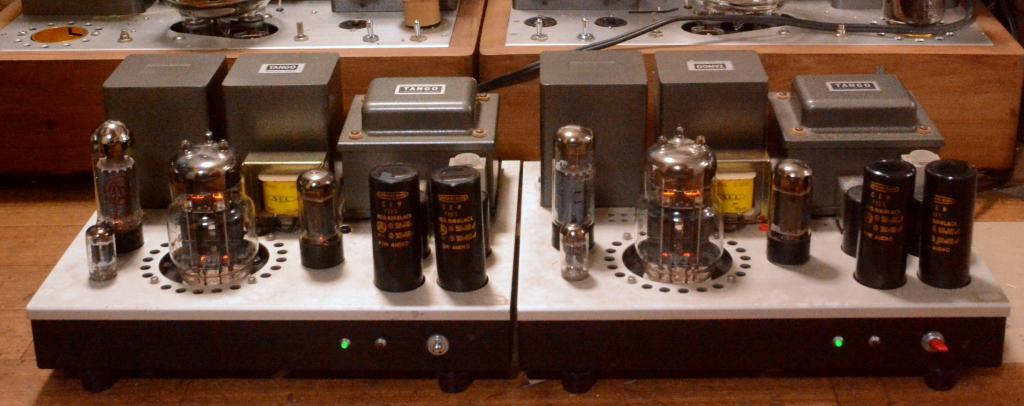 6C33C SE mono block x2  tube amplifier with EL-34 drive tube