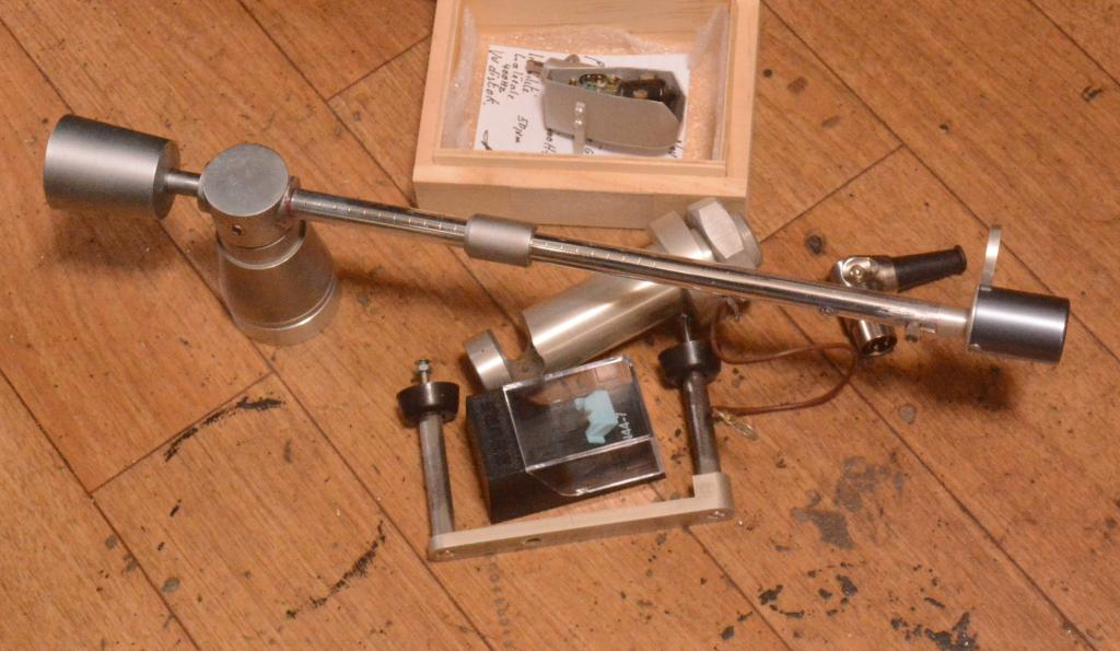 70s year Pierre Clement tonearm L7L long version for broadcast station with L7B cartridge