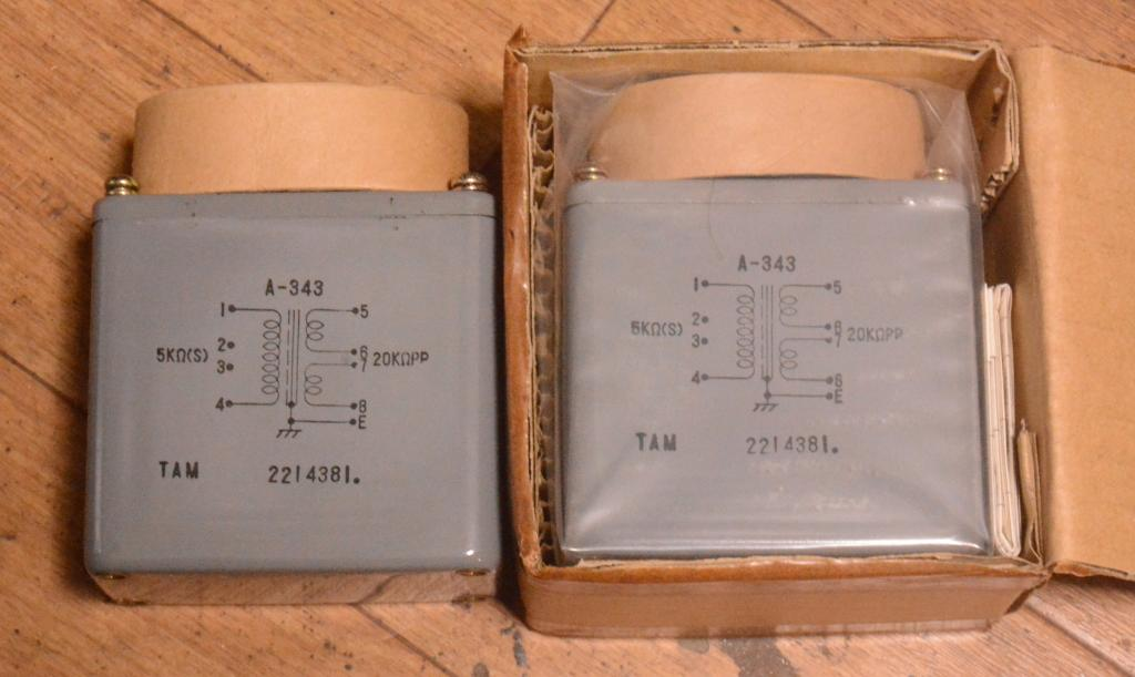 NEW Pair of Tamura A-343 interstage transformer special order for Sakuma amp