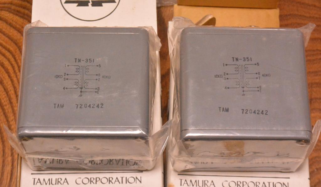 NEW Pair of Tamura TN-351 interstage transformer for SE, PP tube amp