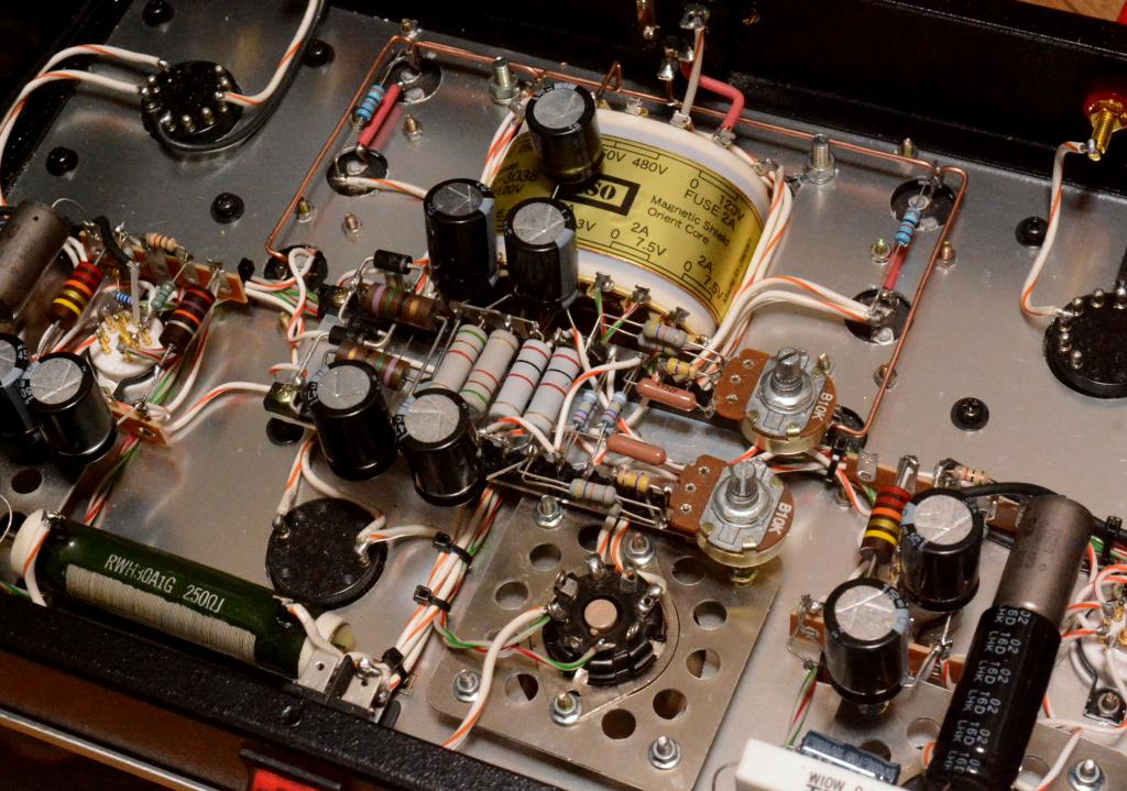 special order made 50 tube SE stereo amplifier pure class A1