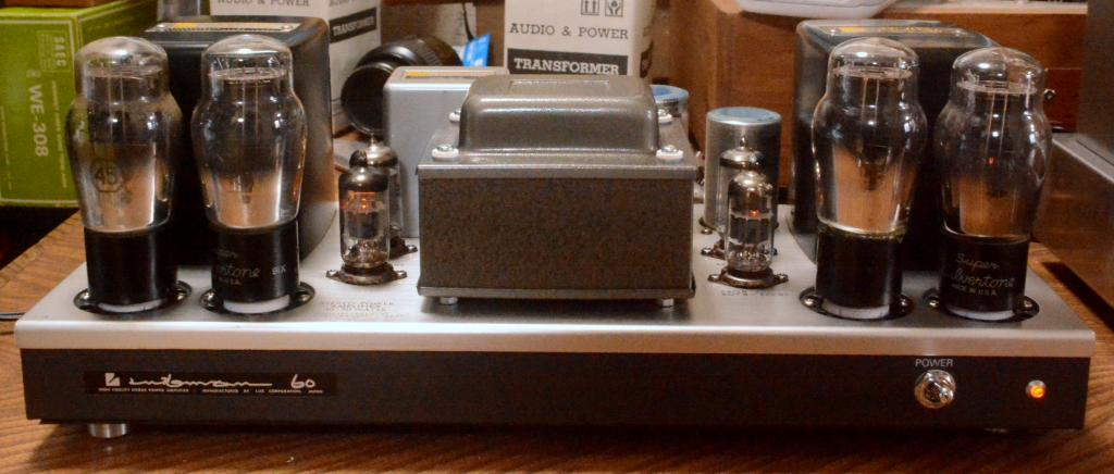 45 push pull tube amplifier on MQ-60 chassis
